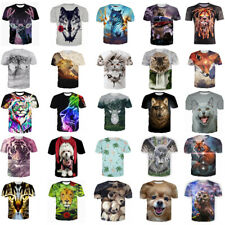 3D Print Animal T-Shirt Women Men Casual Crew Neck Short Sleeve Graphic Tops Tee