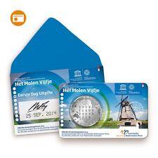 ** Eerste Dag Uitgifte Coincard 2014 Molen Vijfje 5 euro Nederland KNM **