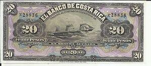 COSTA RICA 20 COLONES 1899  P S165. UNC CONDITION.