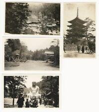 1931 Nikko Nara Kamakura Miyajima Japan 4 Glossy B & W Photos Small 2.5x4 inches