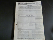 Original Service Manual Grundig  210CS 260 Studio 260 Nymphenburg 3 Rothenfels 3