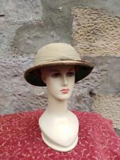 Vintage WW2 military pith sun helmet uniform British Army Port Said Khaki
