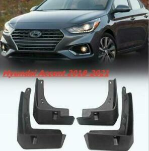 For Hyundai Accent 2018-2021 Mud Fender Flaps Splash Guards Mudflaps Mudguards*4