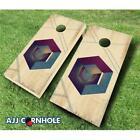 AJJCornhole 109-Incog Incog Ebony Stained Theme Cornhole Set - 8 x 24 x 48 in.