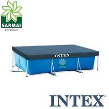 INTEX 28038 TELO COPRIPISCINA COPERTURA COPRI PISCINA FRAME CON TELAIO 300 x 200