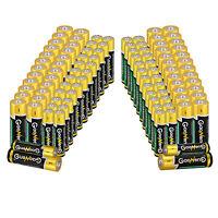 Multipurpose 50pcs AAA +50pcs AA Alkaline Batteries 1.5V Bulk Single Use Battery