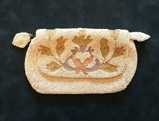 Vintage Longchamps Beaded Clutch Purse, Made in Belgium