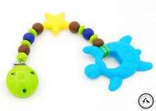 ♥ Beisskette aus Silikon ★ Schildkröte in bunt - Silikonkette ♥