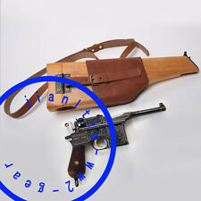 WWII WW2 REPLICA BROOMHANDLE GERMAN MAUSER C96 WOOD SHOULDER HOLSTER BUTT STOCK