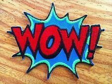 WOW! Superhero Comics Retro Fun Embroidered Applique Iron On Patch New