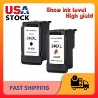 2 Pack PG-245XL Black & CL-246XL Color Ink for Canon PIXMA iP2820 MG2420 MG2522