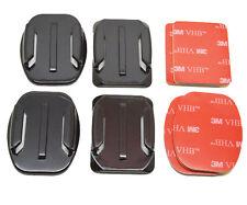 4x casco Plano & Curvo se monta 3 M almohadillas adhesivas pegajoso para GoPro Hero 1 2 3 3+ 4