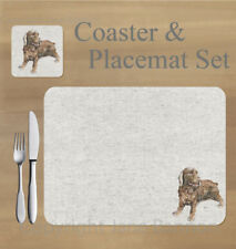 Cocker spaniel,   placemat and coaster set    by Jane Bannon