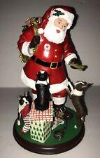 New ListingDanbury Mint Santa Claus Little Boston Terrier Dog Christmas Figurine Statue