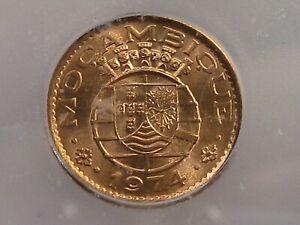 BU RED 1974 20 Centavos Mozambique ICG MS65 RD KM#88. #34
