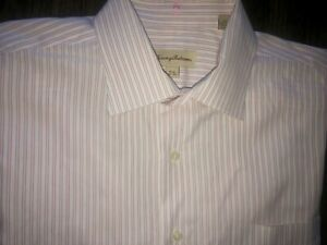 Mens Tommy Bahama Long Sleeve  Striped Button Up Shirt 16 1/2 32-33 - EUC