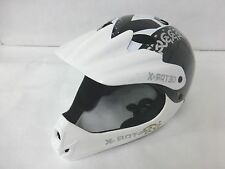 X-Rated White BMX Bike Helmet Full Face Kids 54-58cm Model No. SK-503FF
