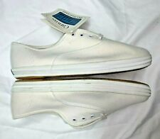1991 Vintage White Canvas Keds - Size 7XW - Brand New