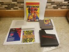 Metroid Classic Series Yellow Nintendo NES Game Complete In Box NO MANUAL!!! SEE
