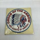 VINTAGE BOY SCOUTS ORDER OF THE ARROW INDIAN PATCH 1960's  6 Inch New In Pac