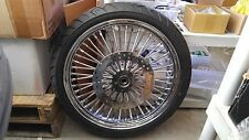 21 X 3.5 FAT SPOKE WHEEL single DISC, W /TIRE & ROTOR 4 HARLEY FLST, FLH MODELS