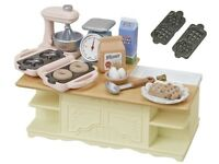 The SYLVANIAN FAMILIES Island Kitchen Room Furniture Kitchen Set from Japan