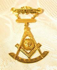 1930 Mason Freemason Past Master 10k Gold Pin Fraternal Masonic Victory Lodge