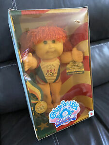 Rare Special Edition Olympic Swimmer Cabbage Patch Doll New In Box Never Opened