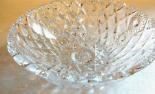 "ABP BRILLIANT SHARP LEAD CUT GLASS CRYSTAL BOWL -  9"" WIDE -  UNSIGNED"