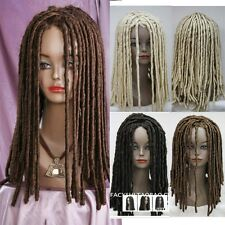 Dreadlock African Cool Wig Long Wavy Curly Roll Costume Hair Heat Resistant Wigs
