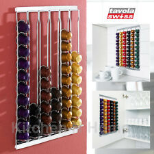 Coffee Capsule Holder,Tavola Swiss,Nespresso Caps Pods,60 pcs Wall mounted