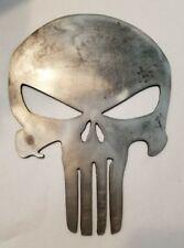 "Punisher Skull metal sign cutout 7.5"" tall. Wall art custom made cnc plasma"