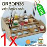 1x ORBOPI36 Stackable Paint Rack Organizer for 28 Tamiya Vallejo Andrea Bottles