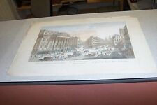 GRAVURE XVIII VUE D OPTIQUE L HOTEL DU LORD MAIRE DE LONDRE DAUMONT