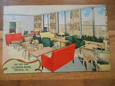 Old Vintage Postcard Tip Top Tap Allerton Hotel Chicago Illinois Michigan Avenue