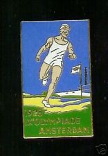 1928 OLYMPICS poster art CLOISONNE pin AMSTERDAM