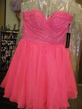 Sherri Hill 21257 Neon Pink Cocktail Dress sz 6