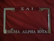 SIGMA ALPHA IOTA New Chrome License Plate Frame