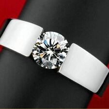 Cut Cubic Zirconia Jewelry Sz 10 Anniversary Ring Fashion 925 Silver Women Round