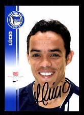 Lucio Autogrammkarte Hertha BSC 2007-08 Original Signiert + A 157282