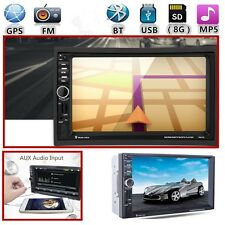 "GPS CAR HD 7"" 2 DIN STEREO MP3 MP5 RADIO PLAYER AUX BLUETOOTH 8G MEMORY CARD NEW"