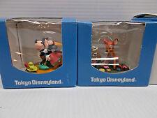Disney Tokyo Miniature Figurines 4, Mickey. Donald, Mickey & Minnie Bambi. c