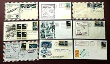 1967-1969 APOLLO 9 to  12 -  ILLUSTRATED SPACE COVERS X 9 - EXCELLENT CONDITION