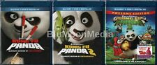 Kung Fu Panda 1 2 3 BLU-RAY / DVD / Digital Copy Complete Collection lot NEW
