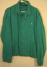 D80 - Ralph Lauren 100% Cotton - zipper long sleeve collared jacket - XL