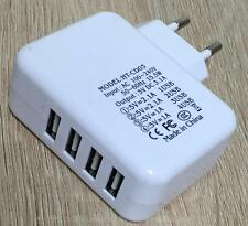 EF Universal 4-Fach Mehrfach 2,1A 5V Multi USB Port Netzteil Ladegerät Handy U