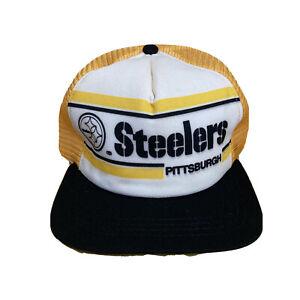 Vintage Pittsburgh Steelers Snapback Hat NFL Football New Era Cap Mesh Made USA