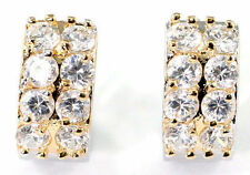 Cubic Zirconia White Gold Plated CZ Earrings & Studs for Men