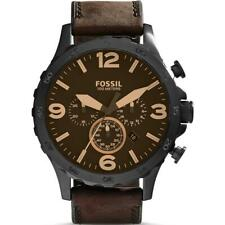 FOSSIL JR1487 Nate Chronograph Brown Dial Brown Leather Men's Watch