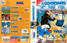 Schtroumpfs Smurfs Sega Master System Replacement Box Art Case Insert Cover